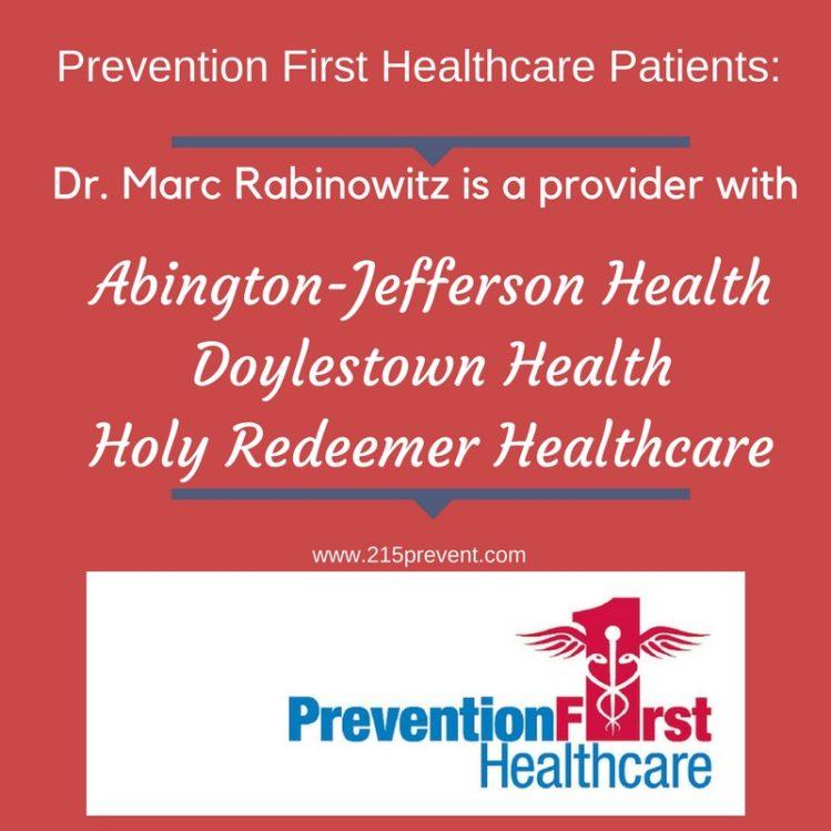 Dr. Marc Rabinowitz Hospital privileges affiliations