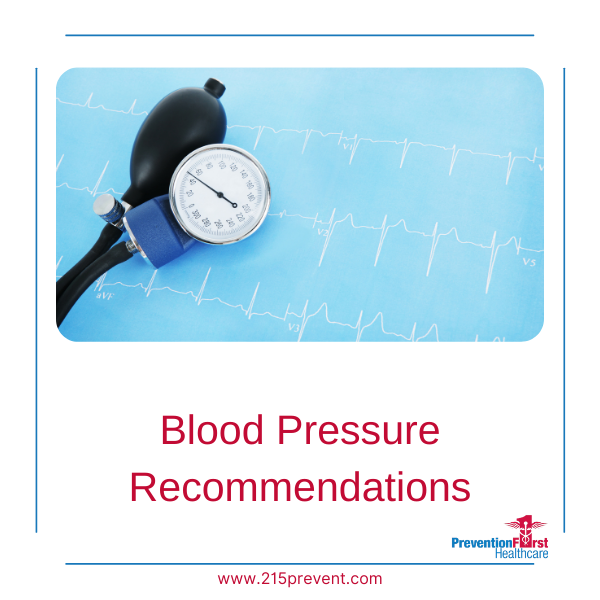 Blood Pressure Recommendations