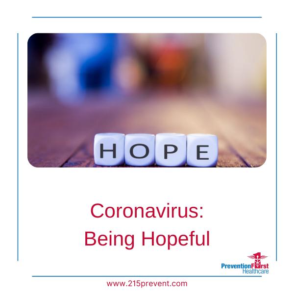 Coronavirus: Being Hopeful