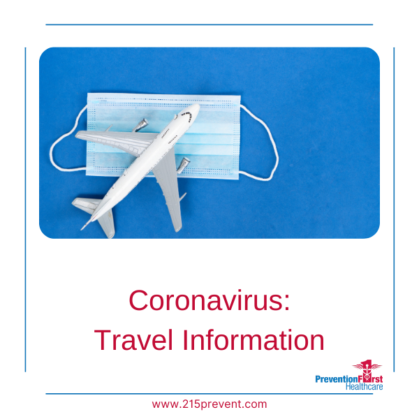 Coronavirus: Travel Information